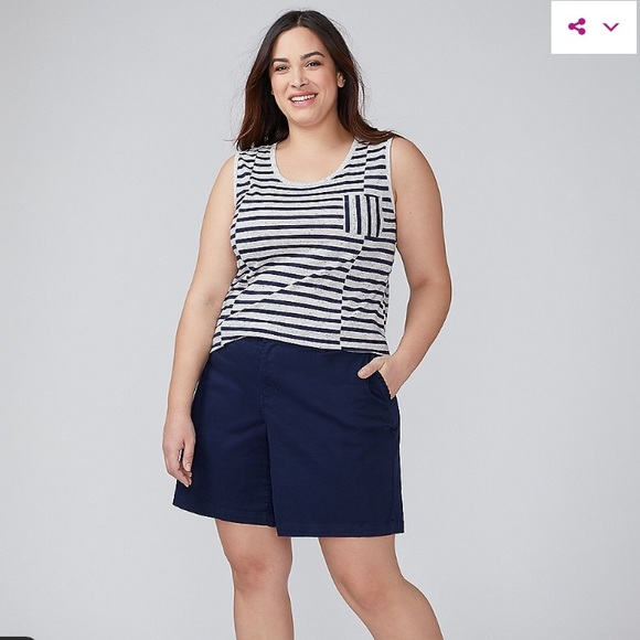 6adbc0bfe31e3 BNWT Lane Bryant sz 26 Navy Blue Girlfriend Shorts